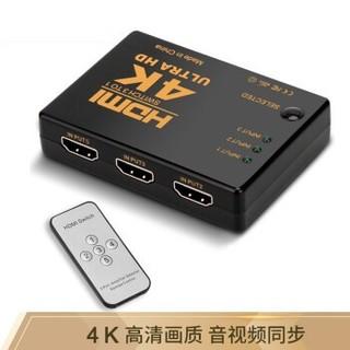 HONGDAK 5进1出 HDMI切换器 带遥控