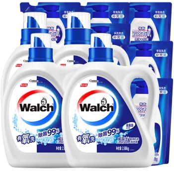 Walch 威露士 旋净机洗洗衣液套装 20.72斤(洗衣液2.68kg*2+洗衣液1kg*2+洗衣液500g*6)