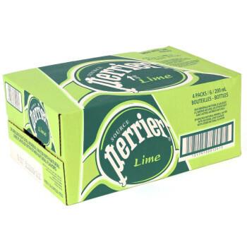 perrier 巴黎水 Perrier巴黎水青柠味气泡水 330ml*24玻璃瓶 整箱装