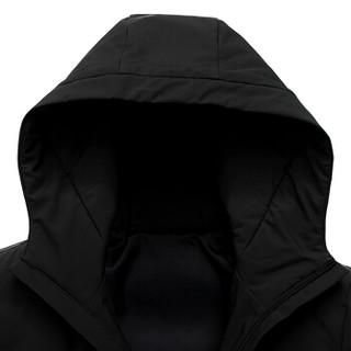 鸭鸭(YAYA)羽绒服男2019冬季新款时尚休闲温暖短款连帽保暖上衣外套GSYR8105 黑色 2XL