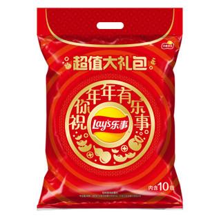 Lay\'s 乐事 大波浪薯片大礼包(黄瓜味+原味+红烩味+鱿鱼味+鸡翅味)400g