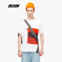 威秀 viishow 2019夏季新品短袖T恤男韩版男士圆领打底衫青年帅气款TD1566192 米白色 M