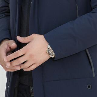 红豆旗下相思鸟 羽绒服男中长款2019冬季新款85%白鸭绒连帽加厚时尚防风外套 蓝色 175/92A