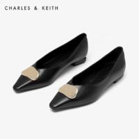 CHARLES&KEITH CK1-70380761女士方头低跟单鞋