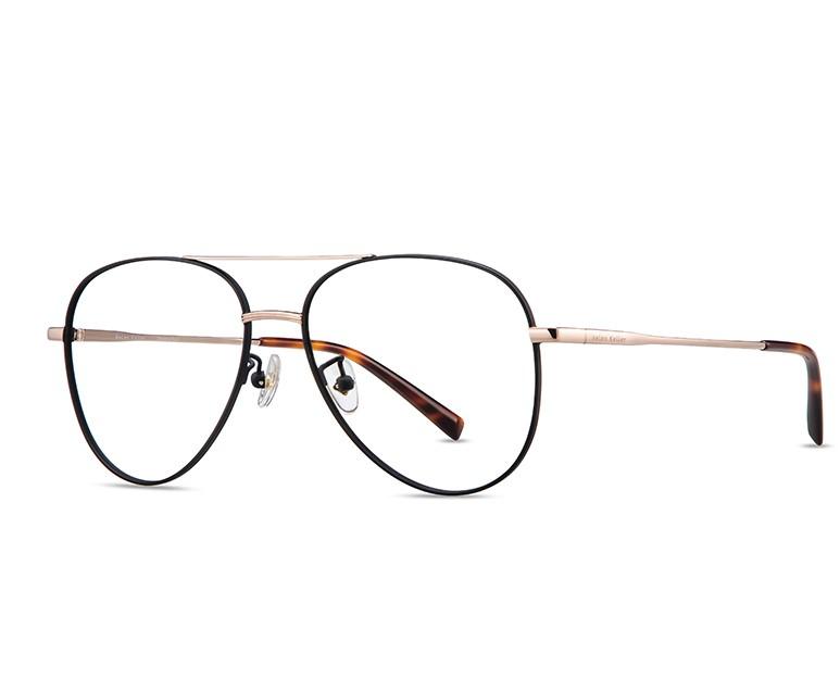Helen Keller 海伦凯勒 H9208 (双梁眼镜框+送1.60防蓝光镜片)黑色