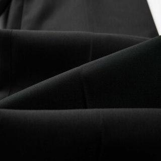 HLA海澜之家西裤男2019秋季新品简约净色舒适宽松长裤HKXAD3R030A黑色(30)175/84A(33)