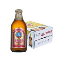 青岛啤酒 金质小瓶棕金小麦醇正整箱畅饮296ml*24瓶装 *2件