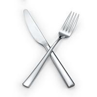 路卡酷(LUCUKU)304不锈钢牛排刀叉两件套 美斯西餐餐具套装 *6件