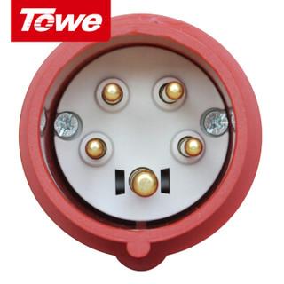 同为(TOWE)16A工业连接器工业插头/机房PDU航空插头5芯公头