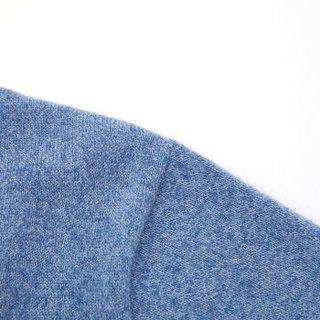 HLA海澜之家羊绒衫男2019冬季新品经典圆领温暖柔软套头衫HNZRJ4R001A蓝灰(01)180/96A(52) cz