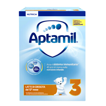 Aptamil 爱他美 幼儿配方奶粉 纸盒装 3段 700g(12-24个月)意大利版
