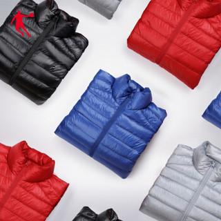 乔丹男装梭织羽绒服防寒保暖外套男连帽上衣休闲冬装 XGM4393353 黑色 XL