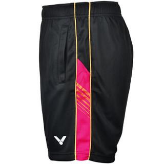 威克多VICTOR 胜利羽毛球服 男款 T-6590C 运动跑步短裤 羽毛球短裤 L码 黑色 赠运动袜