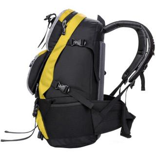 力开力朗 户外大容量流行时尚潮包登山包 062黄色45L