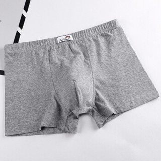 双伞 男士内裤棉质平角内裤男中腰短裤头混色4条装 混色 XL