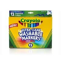 Crayola 绘儿乐 12色可水洗粗头水笔