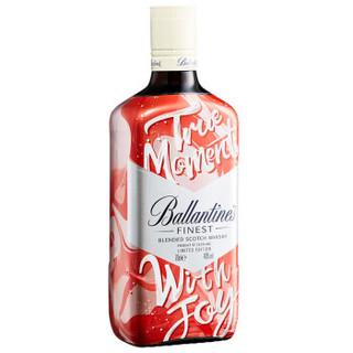 百龄坛(Ballantine's)洋酒 特醇 苏格兰 威士忌 悦享红京东限量版 700ml