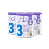 银联爆品日 : Bubs 贝儿 婴幼儿羊奶粉3段 800g*3