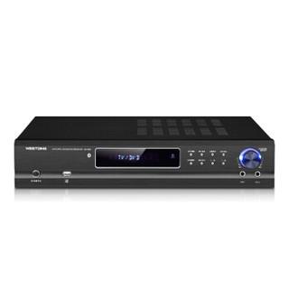 威斯汀(WESTDING)AV-985 家庭影院功放机 专业5.1家用音响音频放大器 AV功放机 USB接口播放 黑色