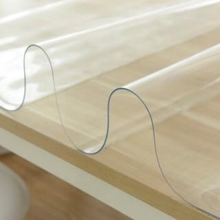 铭聚布艺 软玻璃加厚PVC桌布防水防烫塑料台布餐桌垫茶几垫透明磨砂水晶板透明款(厚度1.5mm)40cm*60cm