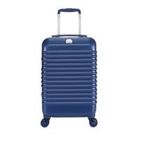 DELSEY法国大使巴斯第商务箱轻薄铝框箱登机2075双锁扣密码时尚行李箱子 黑色 24寸
