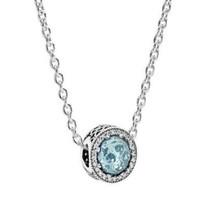 PANDORA 潘多拉 XL-003 925银项链 冰河蓝项链套装
