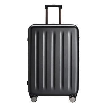 90分行李箱 PC旅行箱男女 静音万向轮拉杆箱多瑙河 28英寸托运箱 幻夜黑