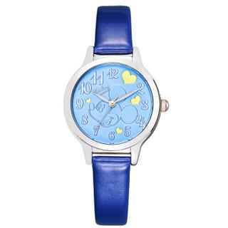 迪士尼(Disney )儿童手表 蓝色米奇时尚女孩蓝色电子表韩版学生腕表11072L