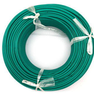 菊花 电线电缆BV25平方 国标单芯单股铜线 家装家用铜芯电线 100米 绿色