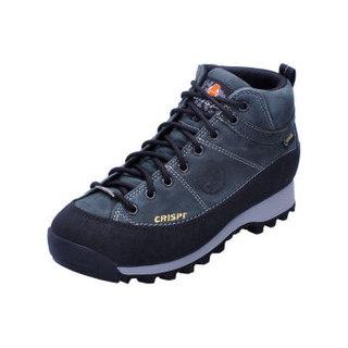 CRISPI 意大利户外登山鞋男防水徒步鞋女中帮耐磨休闲防滑透气Monaco Tinn 炭黑 44