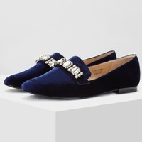 Toomanyshoes Copper Blue 女士平底鞋