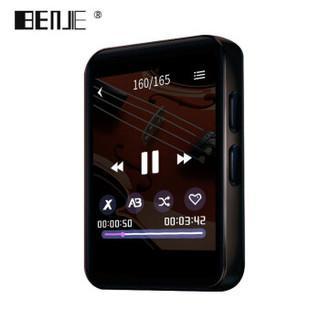 炳捷(BENJIE) MP3/MP4/播放器/电子书/学生小型迷你蓝牙随身听/运动型1.8英寸全面触摸屏X1 8G蓝牙外放版黑色