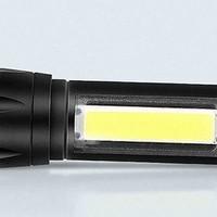 魔铁 迷你LED强光变焦手电 *6件