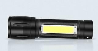 魔铁 迷你LED强光变焦手电