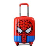 新秀丽(samsonite) 迪士尼卡通男女儿童拉杆箱宝宝行李箱可坐旅行箱 24C*12006 红色/黑色(蜘蛛侠)