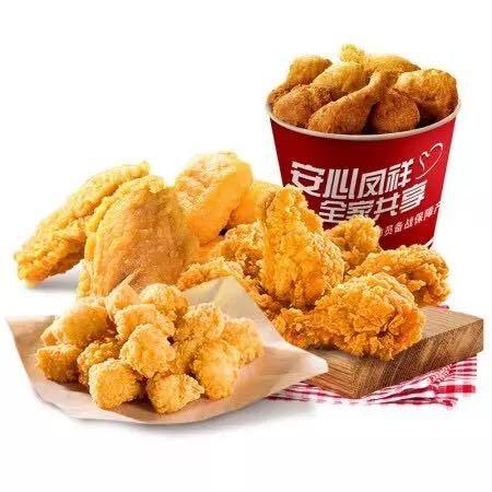 Fovo Foods 凤祥食品 半成菜品炸鸡家庭桶 4袋共2kg