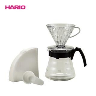 HARIO 日本进口咖啡套装耐热玻璃V60滴滤式咖啡滤杯新手咖啡壶套装 定制款