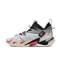 AIR JORDAN Jordan Why Not Zer0.3 PF 男士篮球鞋 CD3002-101 白色/黑/大气灰/亮深红 47.5