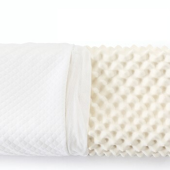 LOVO 乐我家纺 泰国天然乳胶枕 颗粒按摩枕 60*36*8/10cm (单人、一只装、长方形)