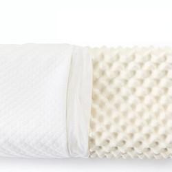 LOVO 乐我家纺 天然乳胶按摩枕
