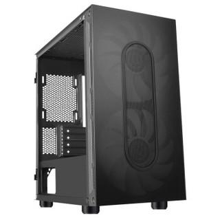 Tt(Thermaltake)启航者A3 黑色 Mini小机箱水冷电脑主机(支持MATX主板/标配20cmARGB风扇/侧透/游戏机箱)