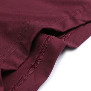 爱慕先生内衣优享莫代尔男士中腰平角内裤男式纯色 NS23U51深红色170/S