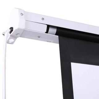 快朵小屋 180英寸4:3白塑电动幕 投影幕布 投影布 投影仪幕布 电动遥控幕布 投影机幕布