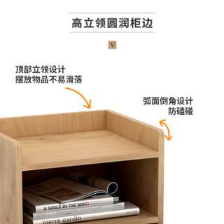 木以成居 LY-3066 床头柜 原木色单抽屉