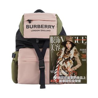 BURBERRY 博柏利 女士Logo印花三色尼龙背包