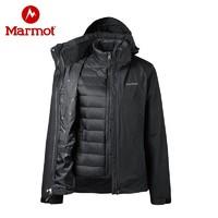Marmot 土拨鼠新 r49390 女士鹅羽绒三合一冲锋衣