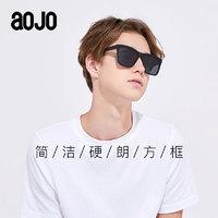 aojo太阳眼镜SA1819300复古造型方框偏光镜时尚近视板材墨镜