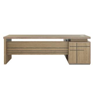 金海马(kinhom)新橡色 2.2米老板桌 办公桌椅 经理主管桌 总裁桌(定制款)7685-9522