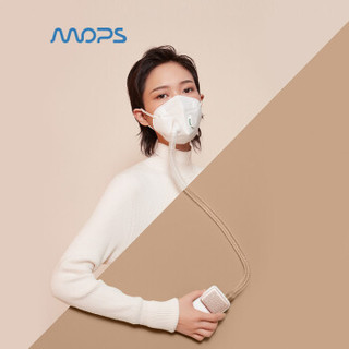 MOPS忻风随身空气净化器II代 智能防雾霾口罩电动口罩防霾防尘防PM2.5 香槟金 口罩滤芯耗材需更换