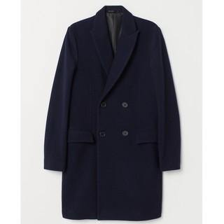 限尺码 : H&M 0635517 男士羊毛混纺双排扣大衣